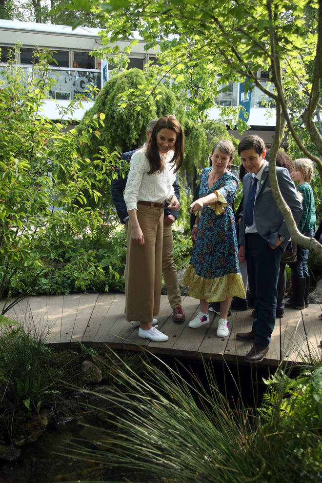 Kate Middleton took one more look around the woodland