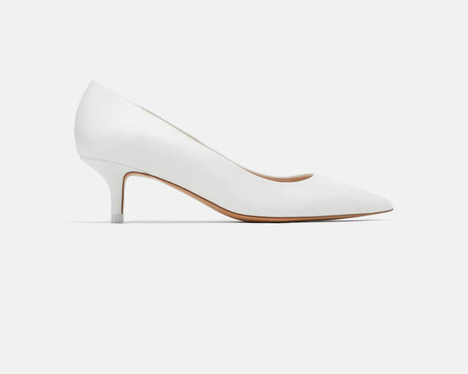 Zara's white pointed heels are on sale for £59.99