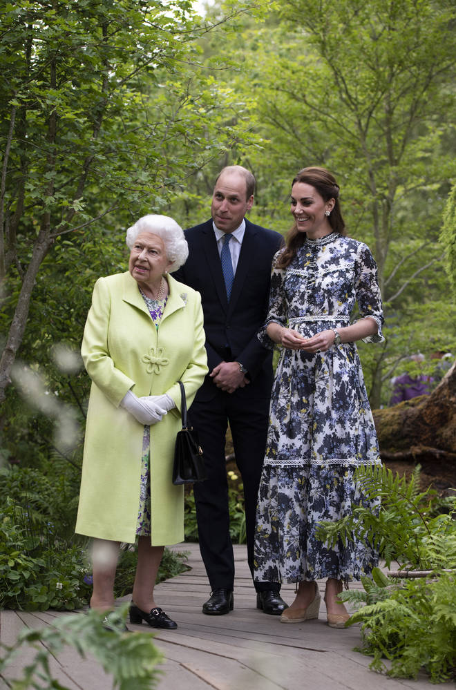 The Queen visited the Duchess of Cambridge's garden at Chelsea Flower Show