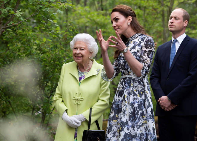 The Duchess of Cambridge showed a delighted Queen around the magical space