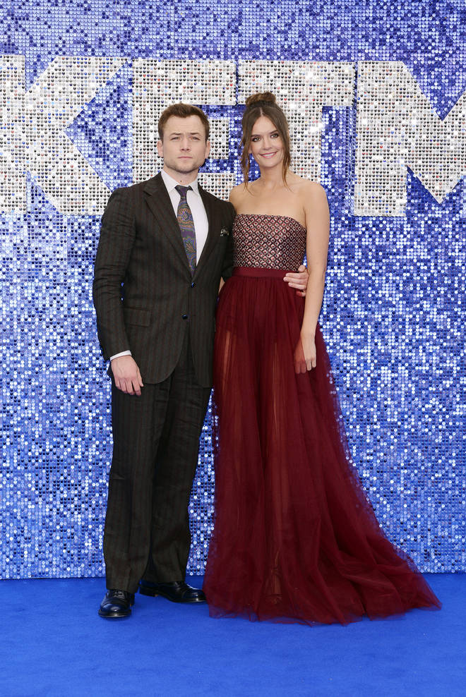 Taron Egerton attended the Rocketman premiere in London with his girlfriend Emily Thomas