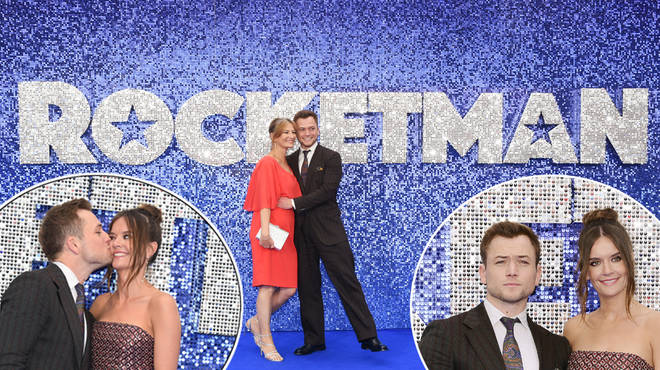 Taron Egerton invited mum Christine and girlfriend Emily Thomas to the London premiere of Rocketman