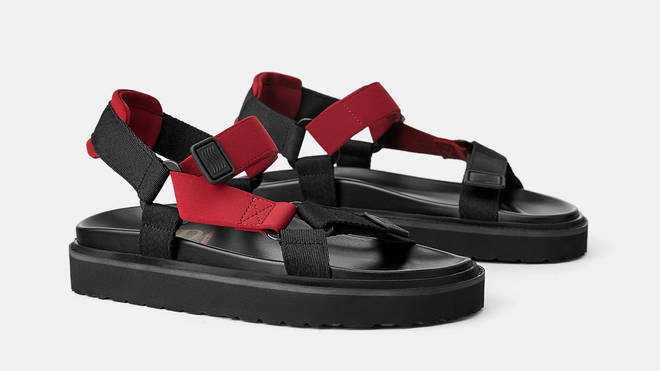 Zara's sporty sandals are a great simple touch to any outfit