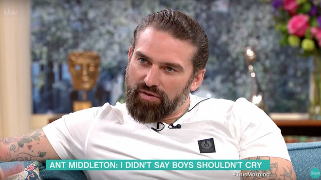 Ant Middleton defended his comments about boys crying