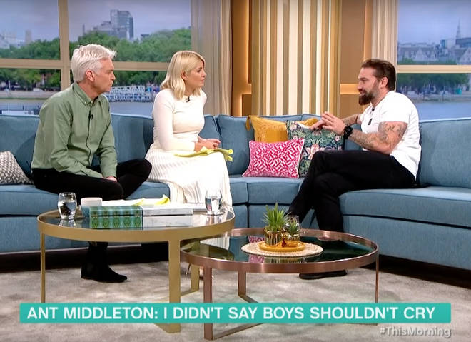 Ant Middleton revealed he teaches his son not to cry at school