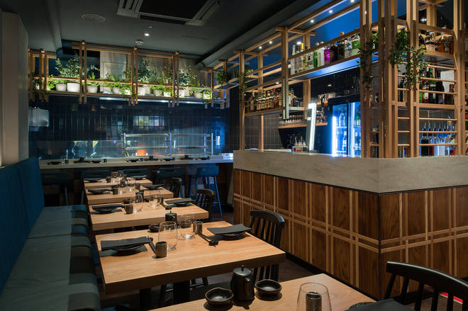 Robata has beautiful chic dark interiors and is based in central London