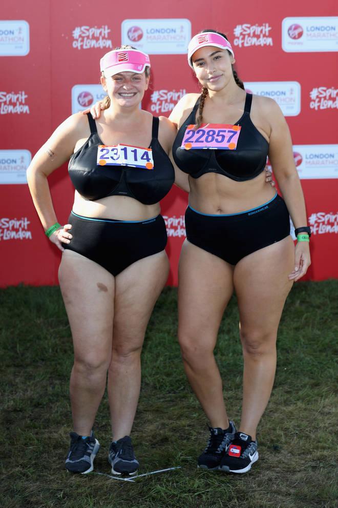 Jada Sezer ran the London Marathon in her underwear last year