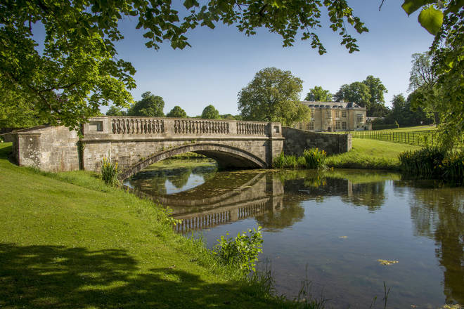 Hartwell House is set in 90 acres of parkland - and features a gorgeous lake and canals
