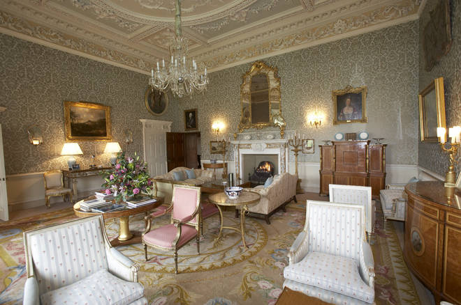 The day room at Hartwell House is straight out of Downton Abbey