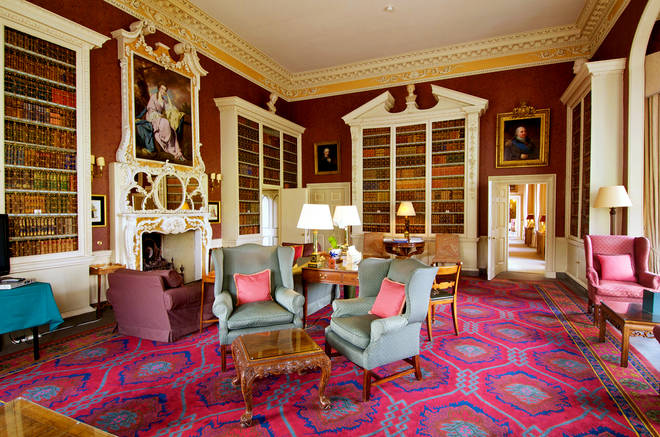 There are several lavish sitting rooms where you can relax and read a book