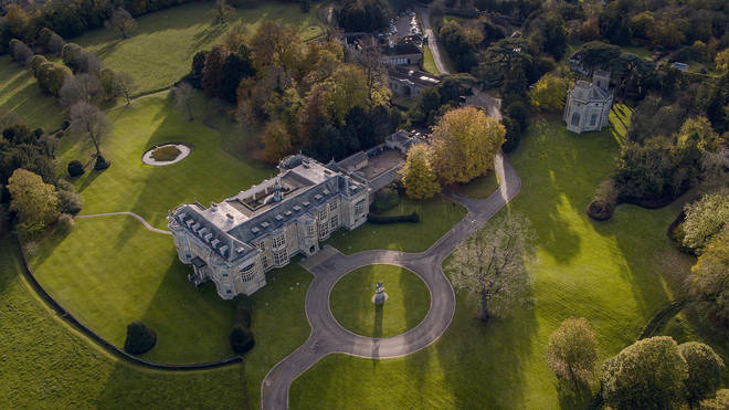 The house and its grounds are enormous - but only 40 miles from London