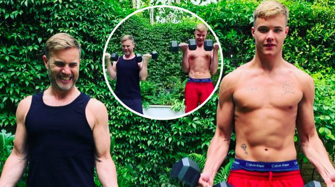 Gary Barlow praises his eldest son Daniel's passion for fitness.