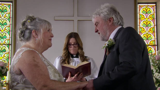 Lisa and Zak married for a second time on Emmerdale