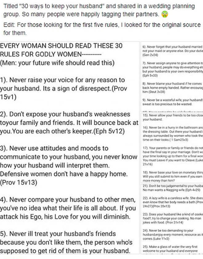 Marriage rule book