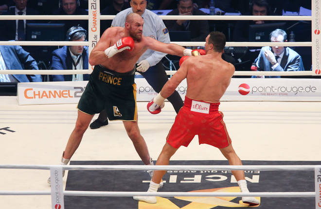 Tyson Fury won against Wladimir Klitschko in 2015.