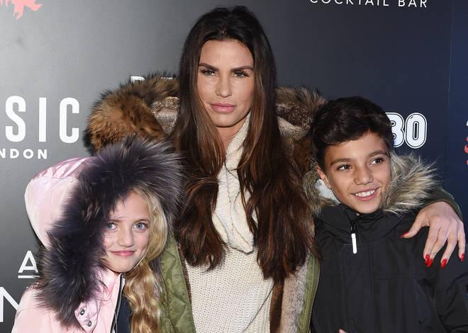 Katie Price with kids Junior and Princess