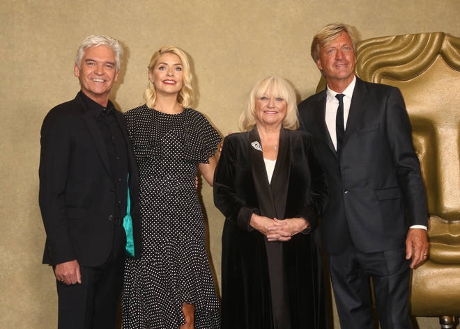 Phillip Schofield and Holly Willoughby with Richard and Judy