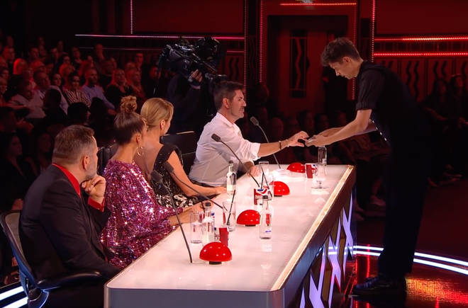 Ben used Simon Cowell for a segment of the performance, which didn't go quite to plan