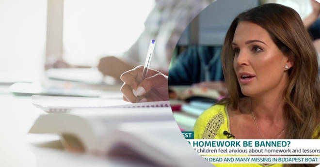 Danielle Lloyd has called for homework to be banned