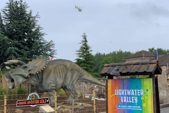 The incident happened at Lightwater Valley theme park in Yorkshire