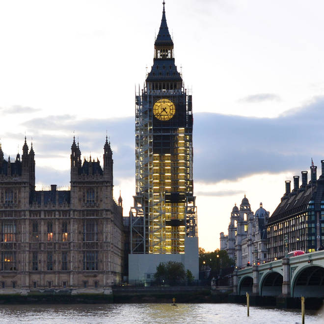 The works on Big Ben started in 2017 and are expected to take four years
