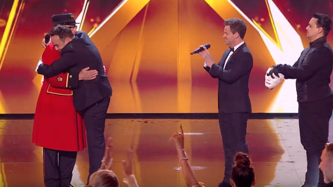 Ant gave Colin a huge hug after announcing him as the winner