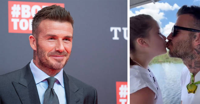 David Beckham has been targeted by cruel trolls for kissing his daughter in the past