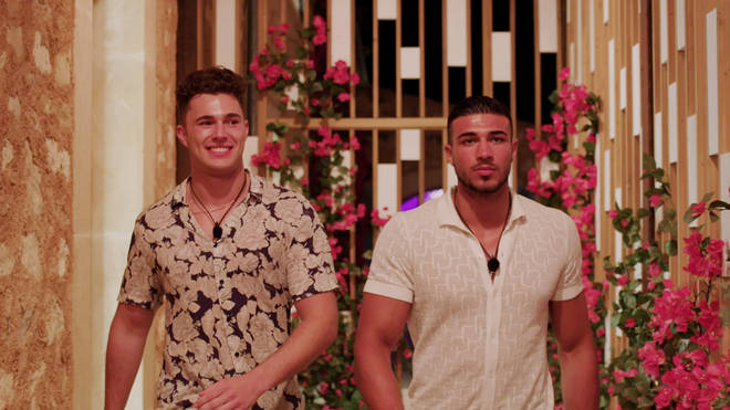 Tommy and Curtis entered the Love Island villa later on the first day