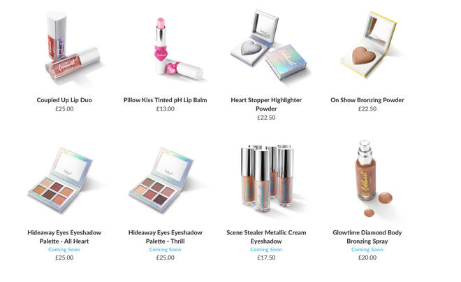 There's a variety of makeup available, some are yet to launch