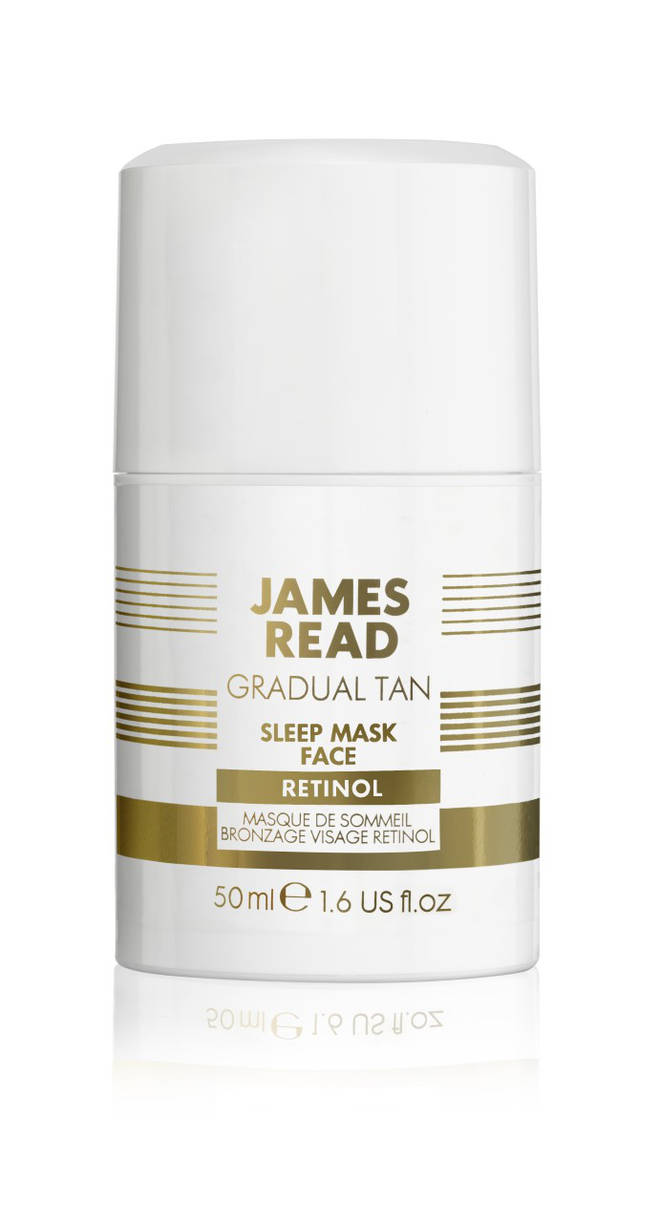 James Read's tanning face mask can be incorporated into a nighttime skincare routine