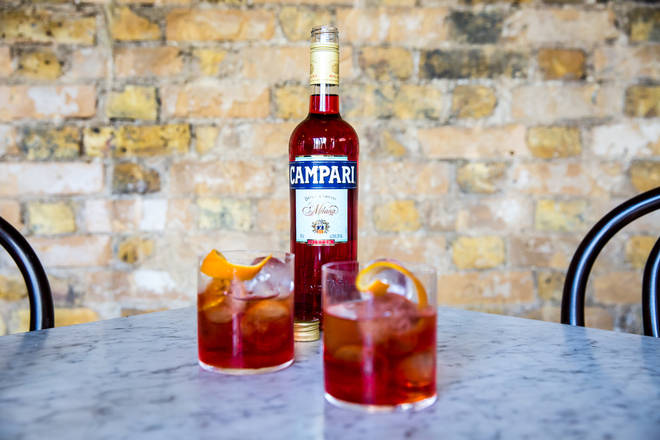 Campari is one of the three main ingredients in a Negroni