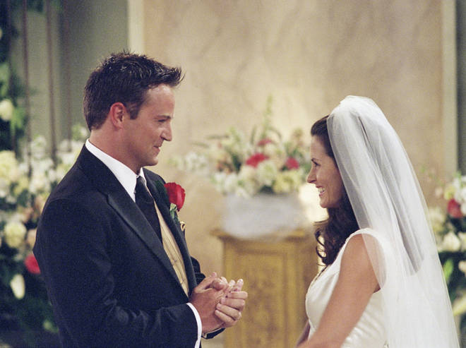Fans spotted a huge error during Monica and Chandler's wedding