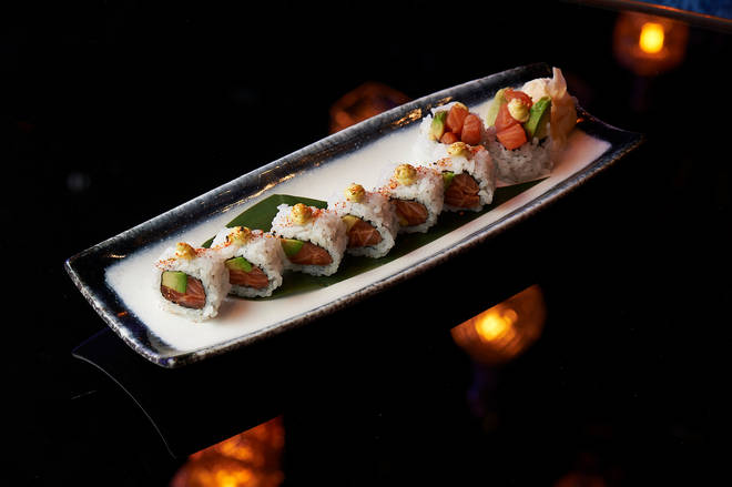 OPIUM London has an incredible range of sushi