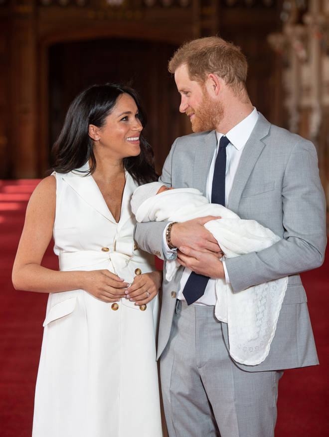 The Duke and Duchess of Sussex introduce newborn son Archie Harrison Mountbatten-Windsor to the world.