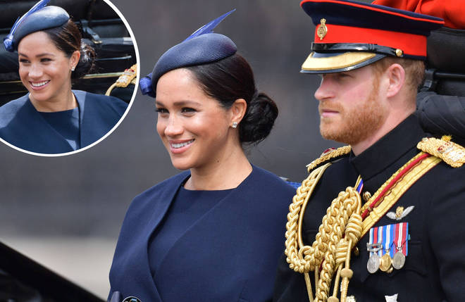 Meghan Markle is spotted for the first time since giving birth to her baby son.