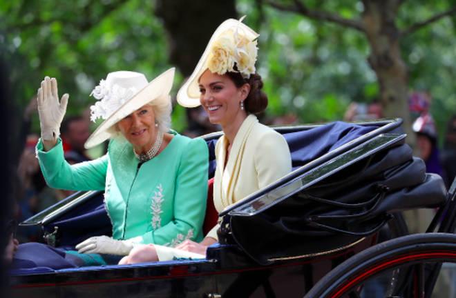 Duchess of Cambridge and Camilla