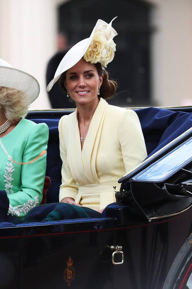 The Duchess of Cambridge stepped out to celebrate the Queen's official birthday wearing Alexander McQueen.