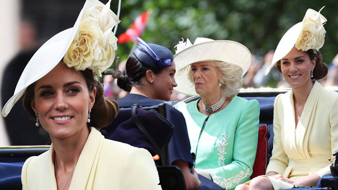 Kate Middleton makes a stylish entrance at Trooping the Colour 2019.