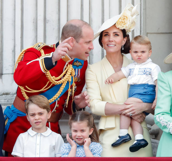 Prince Louis and family at Trooping the Colour 2019.