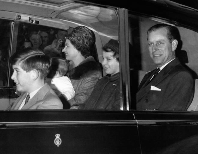 The Royal Family travel to Sandringham, 1960.
