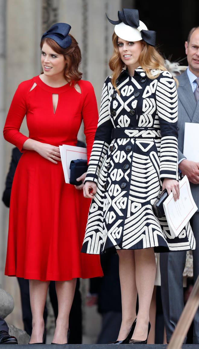 Princess Eugenie and Princess Beatrice.