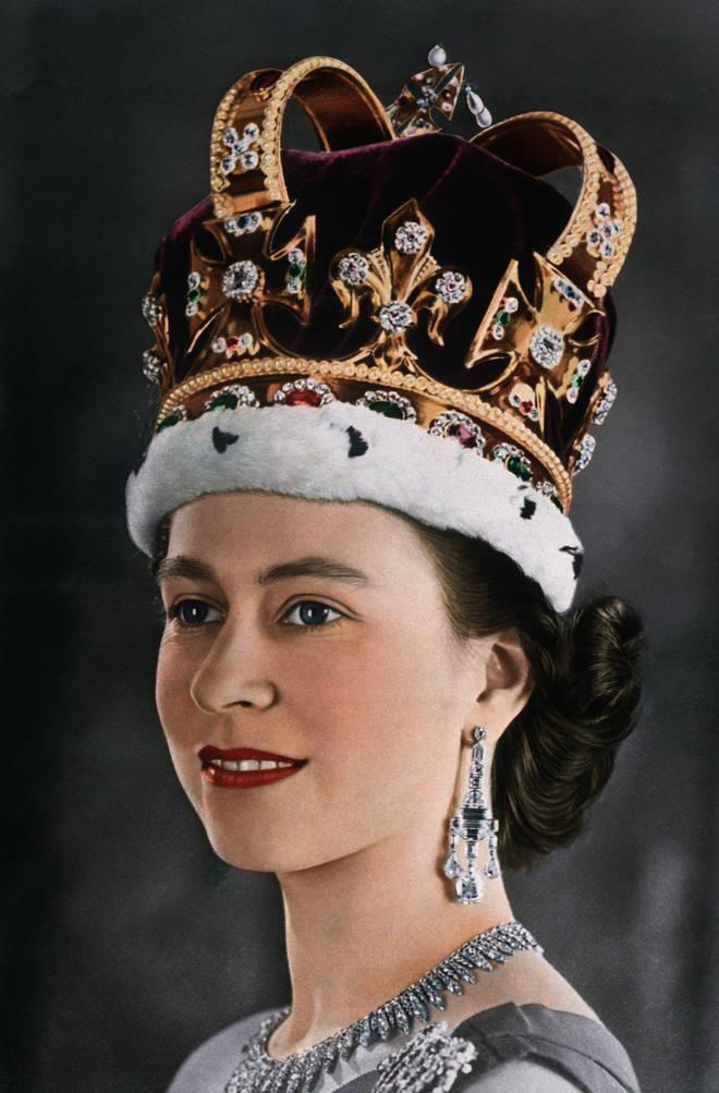 Elizabeth II on Her Coronation Day.