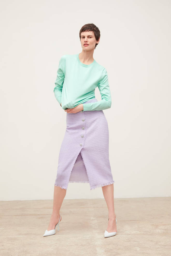 Zara lilac skirt