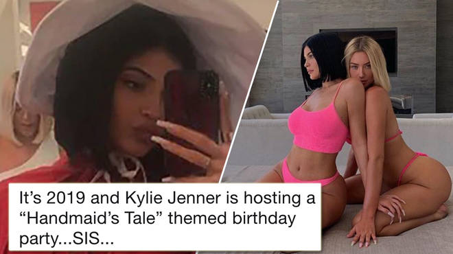 Kylie Jenner is being dragged online for her Handmaid's Tale-themed party