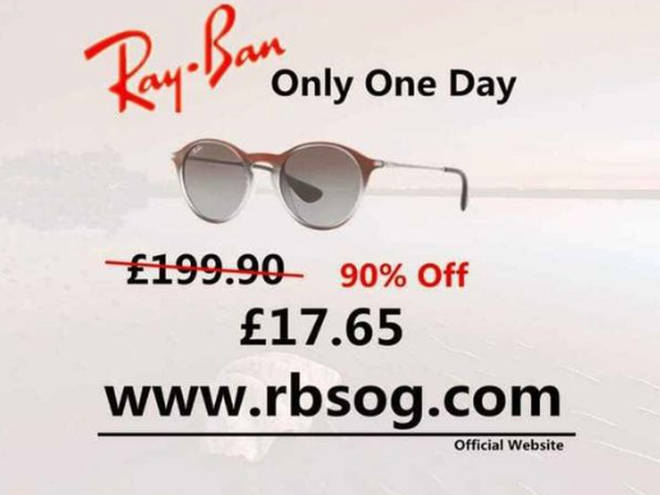 Instagram users have been tricked into clicking on this Ray Ban link