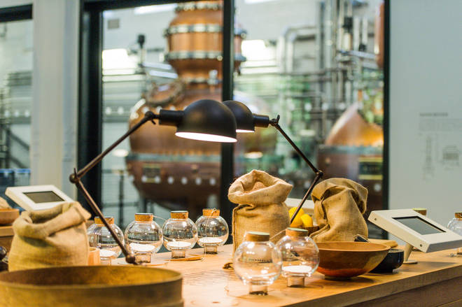 The Botanical Dry Room lets visitors smell the ingredients that go in to making gin