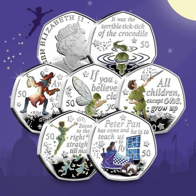 The collection has a number of characters featured on the coins