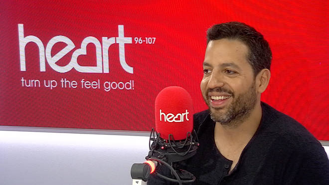 David Blaine took some time out of his UK tour to visit Heart's studios