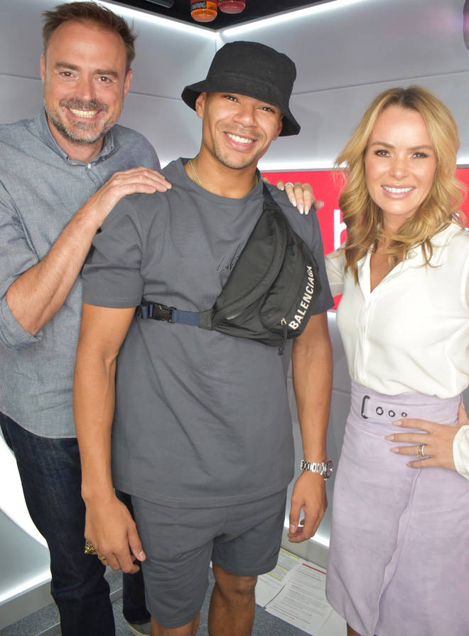 Wes Nelson visited Jamie Theakston and Amanda Holden on Heart Breakfast