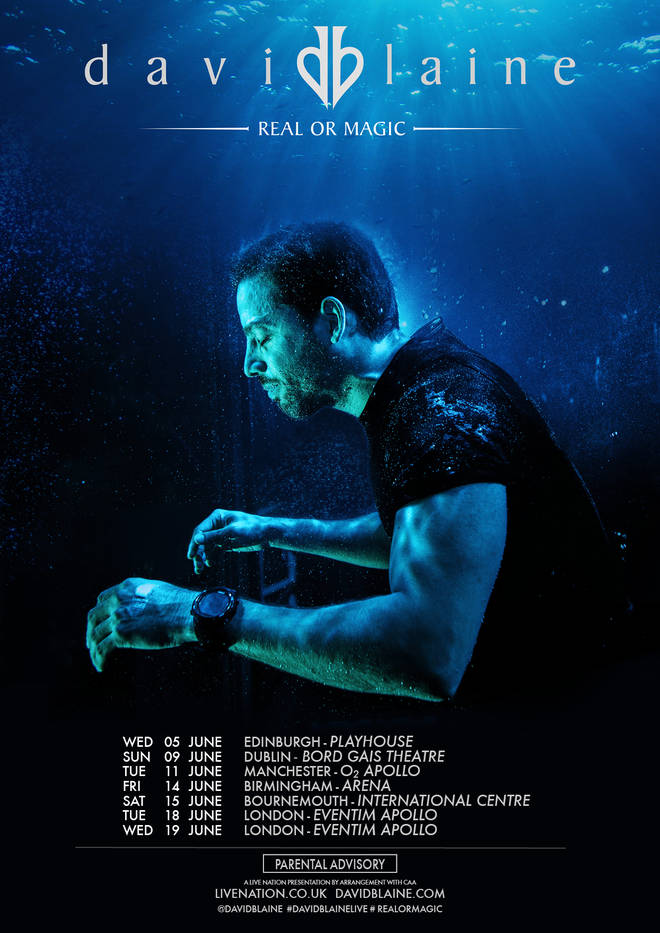 David Blaine is touring the UK and Ireland for the first time in his career